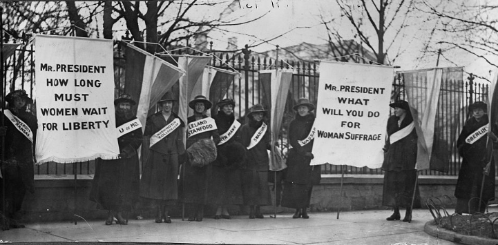 Women Picketing for Suffrage in US